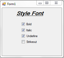 Bold,Italic,Underline and Strikeout a Label Text in VB with