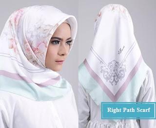 MODEL JILBAB Right path scarf untuk ibu pejabat
