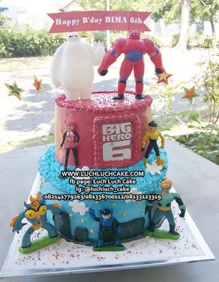 Kue Tart Ulang Tahun Baymax Tingkat