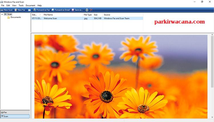 Menyimpan Hasil Scanner Dokumen ke Format PDF Dengan Menggunakan  Windows Fax & Scan