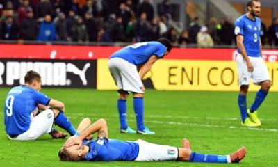 Italia Absen di Piala Dunia 2018