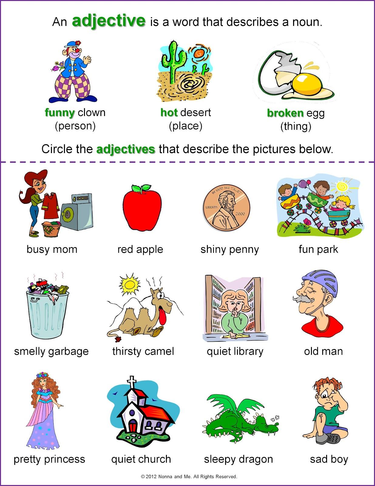 Mrs Seremet S 3rd Grade Class Adjectives