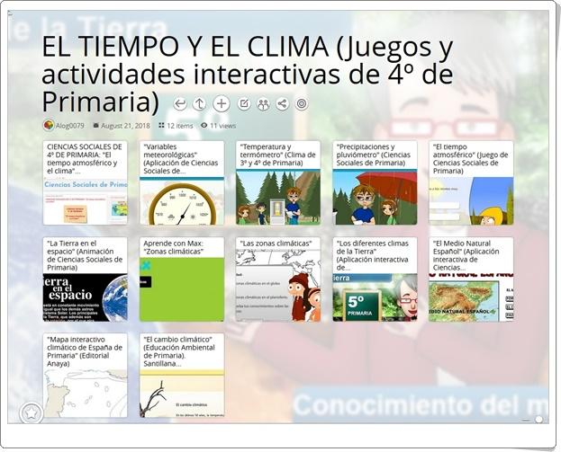"""""""12 Juegos y actividades interactivas para el estudio de EL TIEMPO Y EL CLIMA en 4º de Primaria"""""""