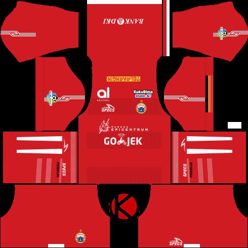 Persija Jakarta Kits 2018  Dream League Soccer Kits  Kuchalana