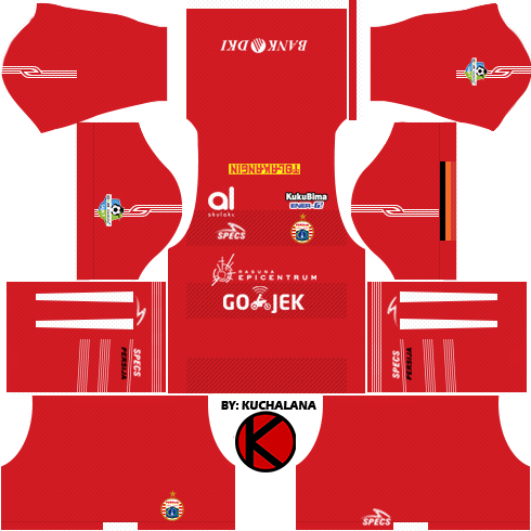 Persija Jakarta Kits 2018 - Dream League Soccer Kits