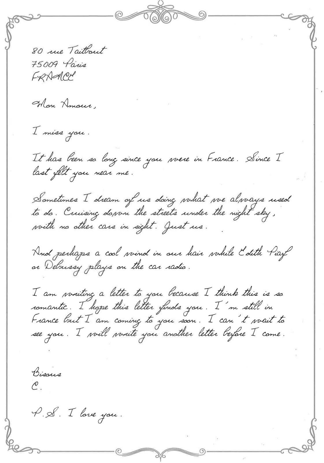Mystérieuse lettre d'amour - Un zeste de Singapour