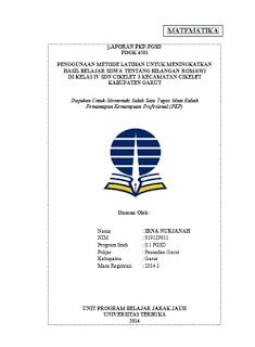 Sekolah Berbagi Download Contoh Laporan Pkp Ut Pgsd