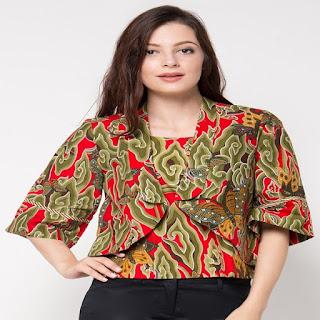 gambar desain baju batik modern