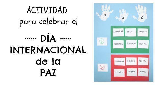Actividad para el día internacional de la paz