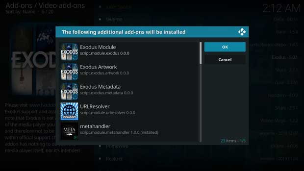 instal dan setting add-on kodi exodus 15