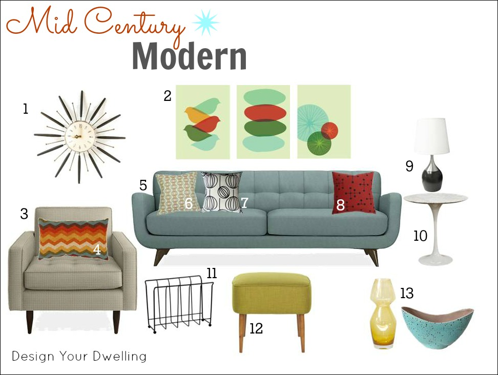 1000 images about home livingroom ideas on pinterest - How to decorate mid century modern on a budget ...