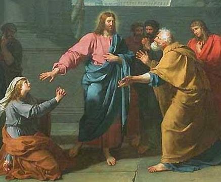 Resultado de imagem para Cristo e a mulher cananeia