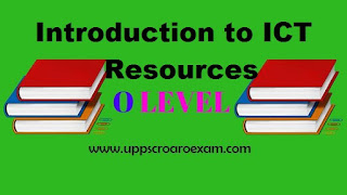 SOLUTION OF INTRODUCTION TO ICT RESOURCES QUESTION PAPER