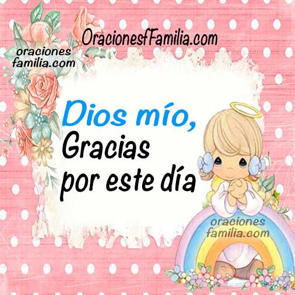 Oraciones cortas de la mañana, buenos días, frases con oraciones de gracias para el trabajo, la familia por Mery Bracho.
