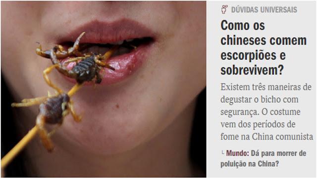 CRISE NO BRASIL: Prepare-se para comer de tudo.