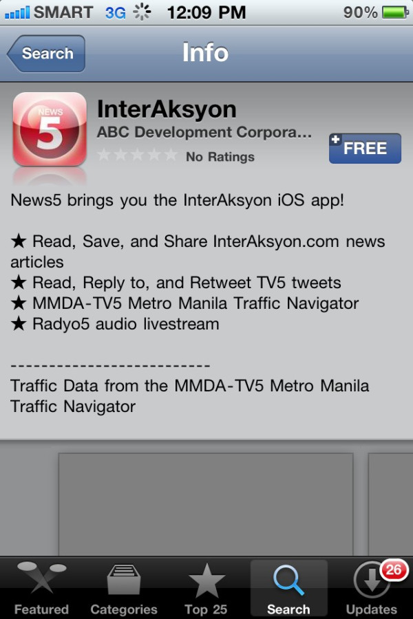 InterAksyon App for iOS (iPhone, iPod, iPad) is now Available for