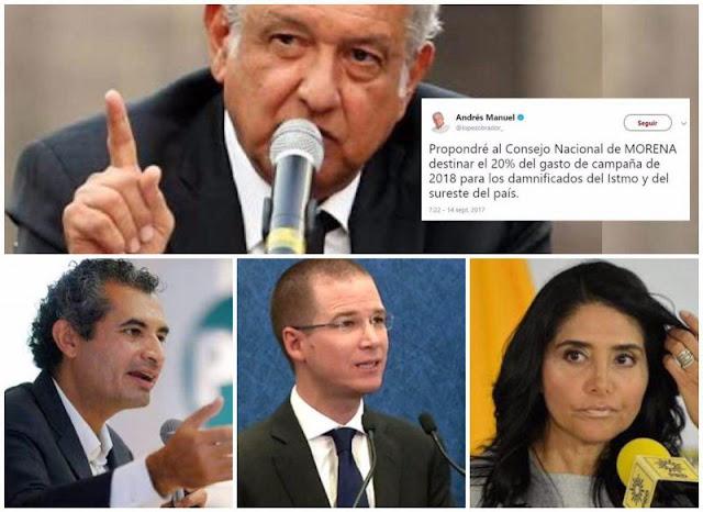 Presión ciudadana funcionó, PRI,PAN y PRD se suman a Morena, donarán recursos de campaña