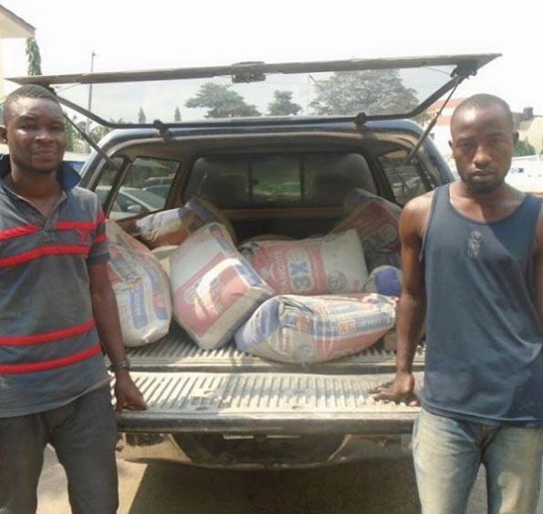 Despite receiving sizable 200k salary, LAUTECH graduate steals cement bags from employer