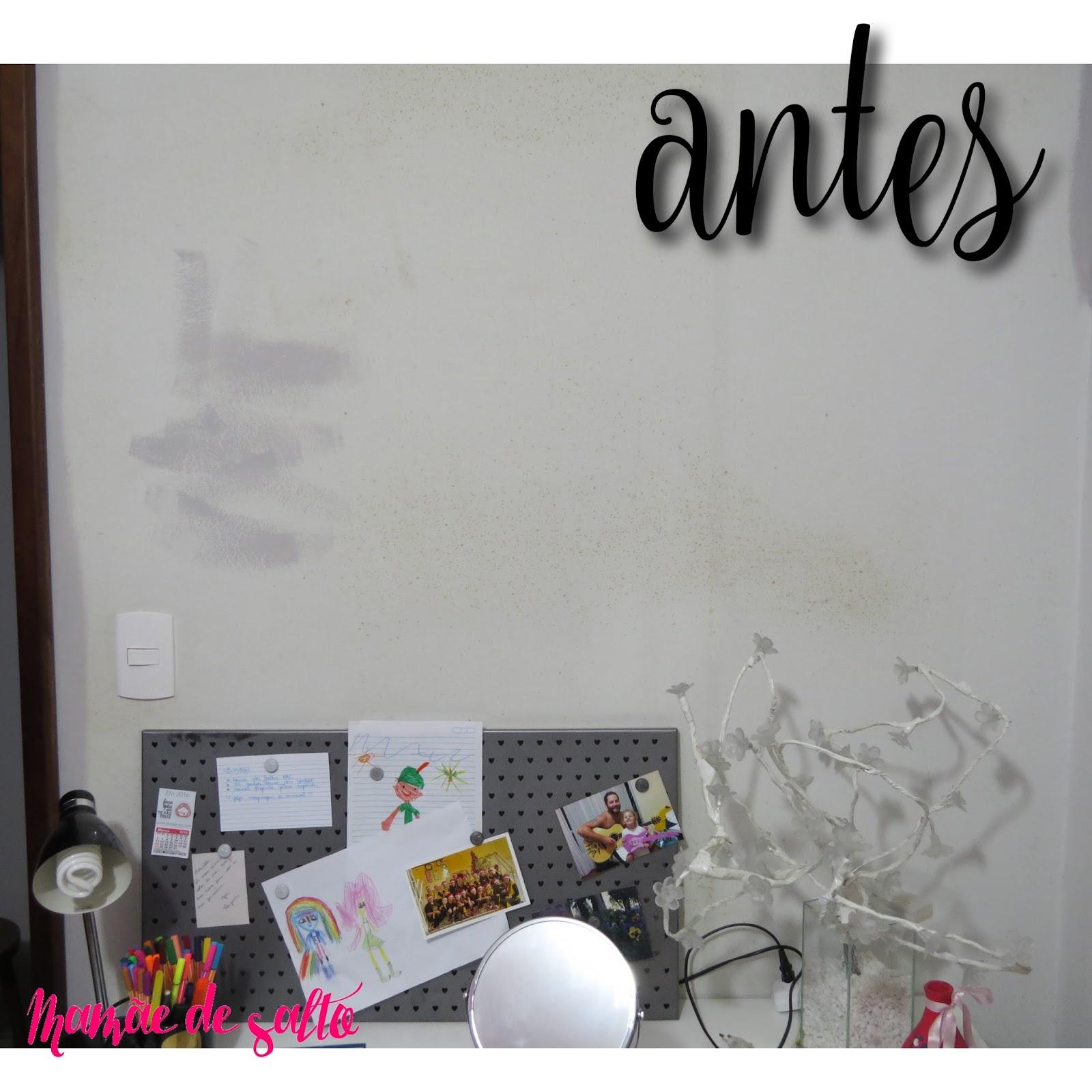 como fazer parede quadro negro/blackboard ... blog Mamãe de Salto
