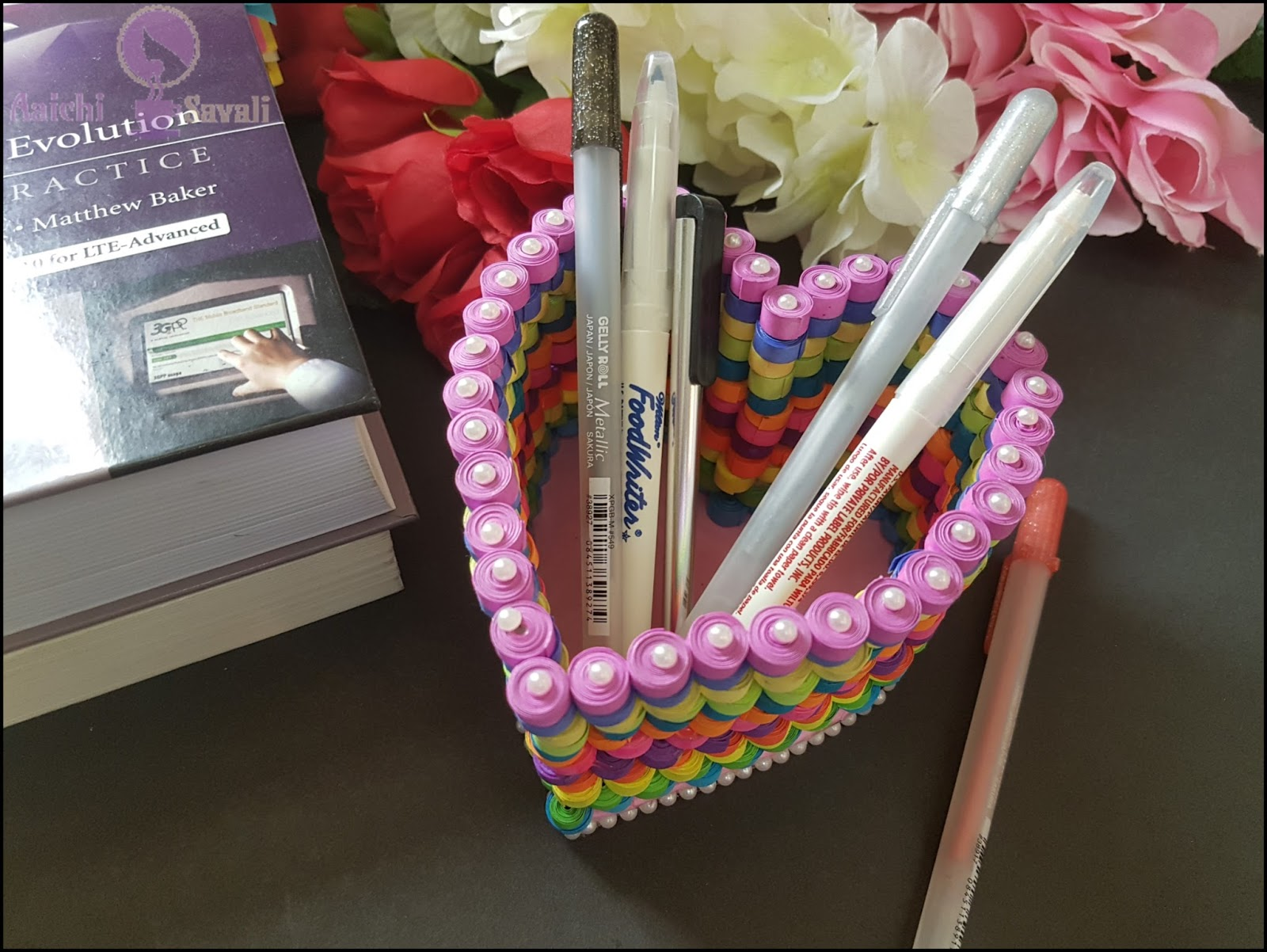 Paper Quilling Tutorial How To Make A Pen Holder Aaichi Savali