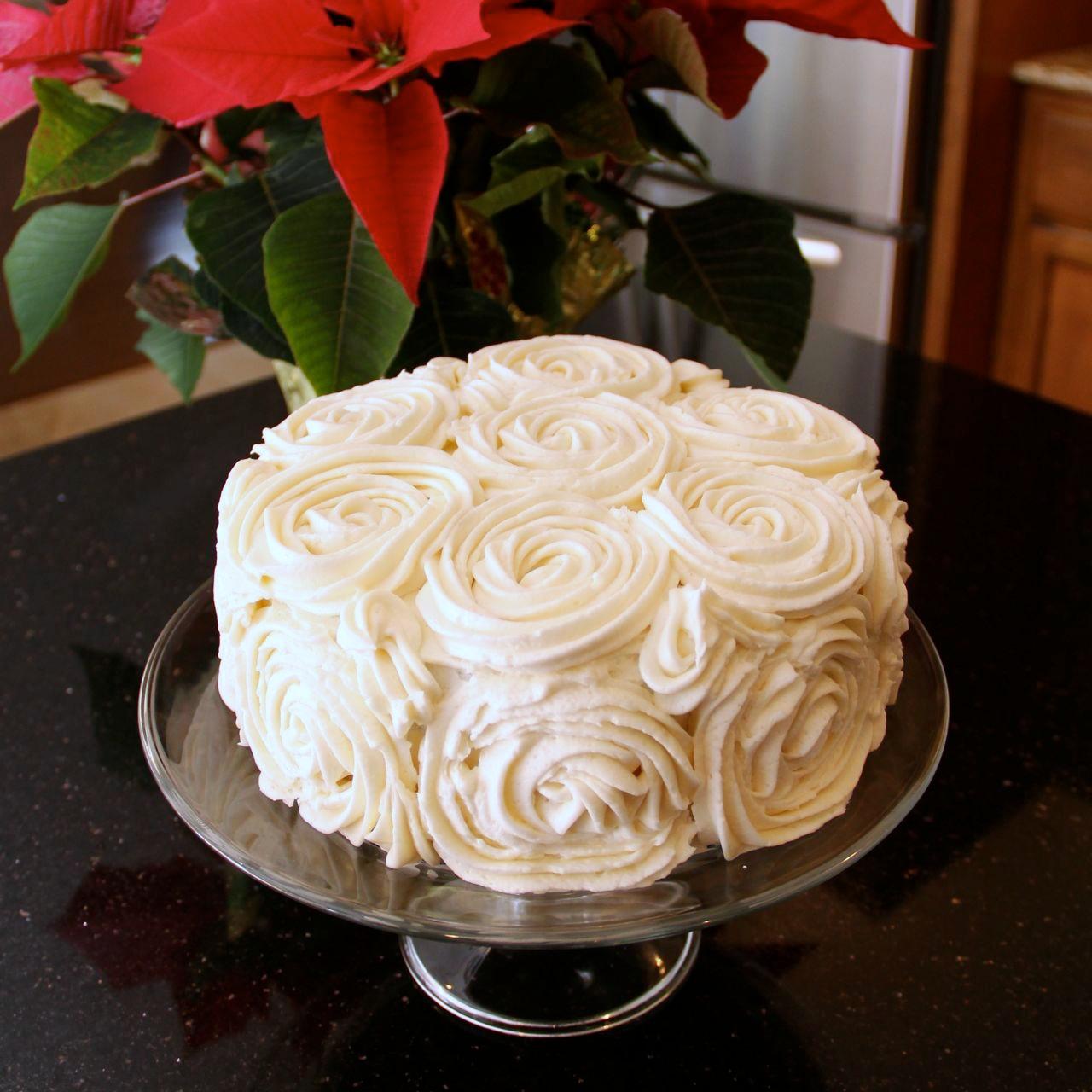 Shower Of Roses: A Christmas Rose Birthday Cake