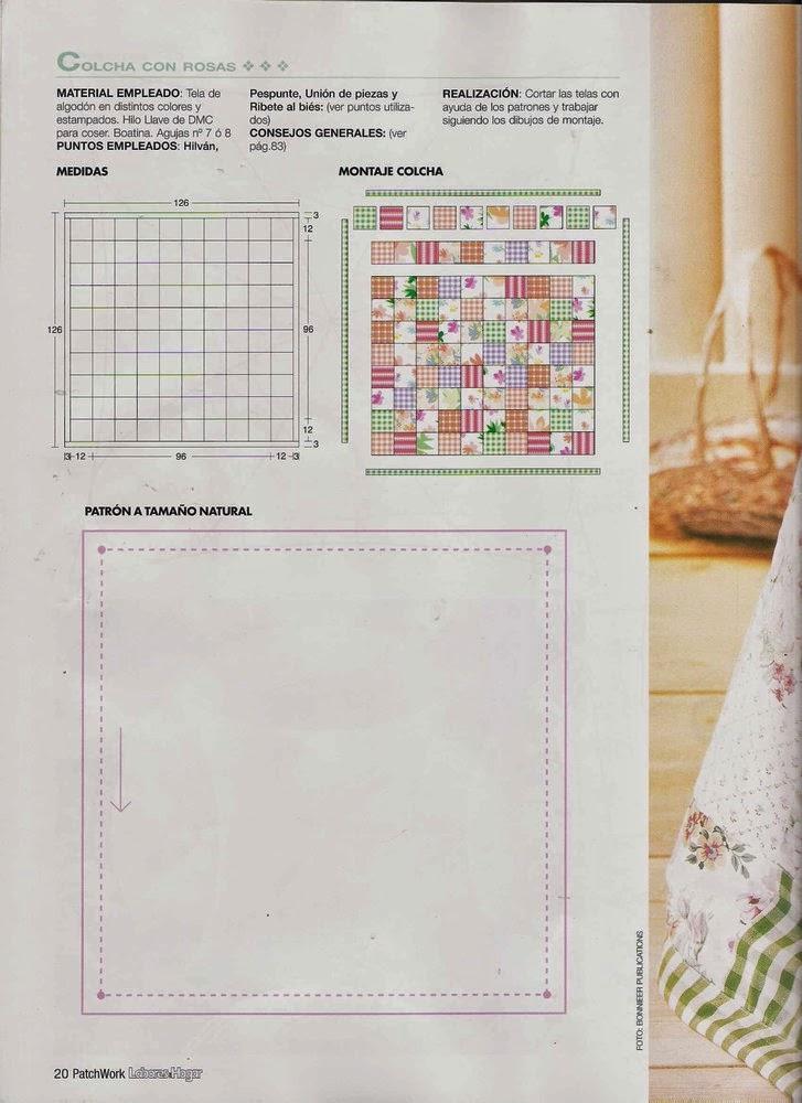 Como hacer colcha en patchwork - Revistas de manualidades Gratis
