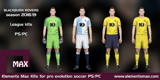 Blackburn Rovers PES Kits 2018/19