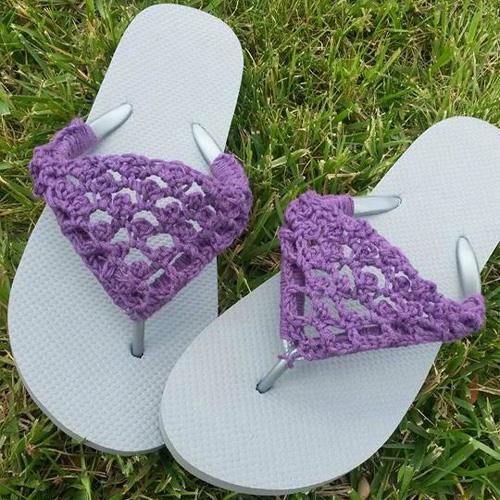 Peekaboo Picot Flip Flops - Free Pattern