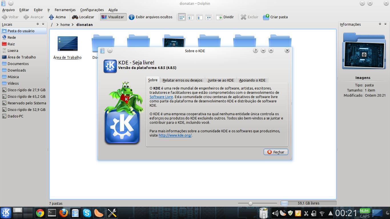 como saber qual versão do KDE estou usando