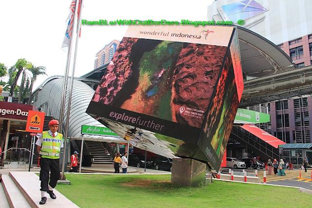 Advertising cube, Bukit Bintang, KL, Malaysia