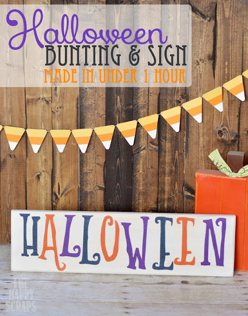 Halloween Bunting & Sign from The Happy Scraps