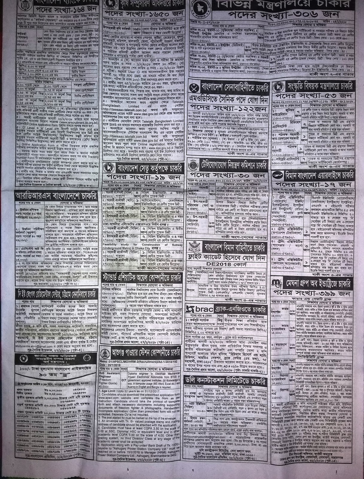 BD Job newspaper February 2018 - Chakrir Khobor চাকরির