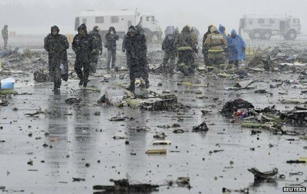 Flydubai Plane Crashes in Russia, 62 aboard reported dead