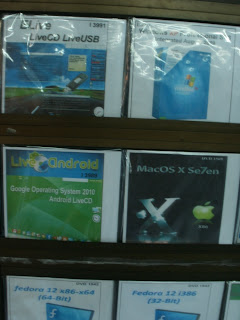 Software CDs in downtown yangon