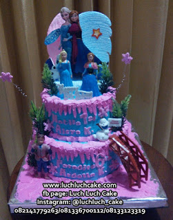 Kue Tart Tingkat 2 Frozen Elsa