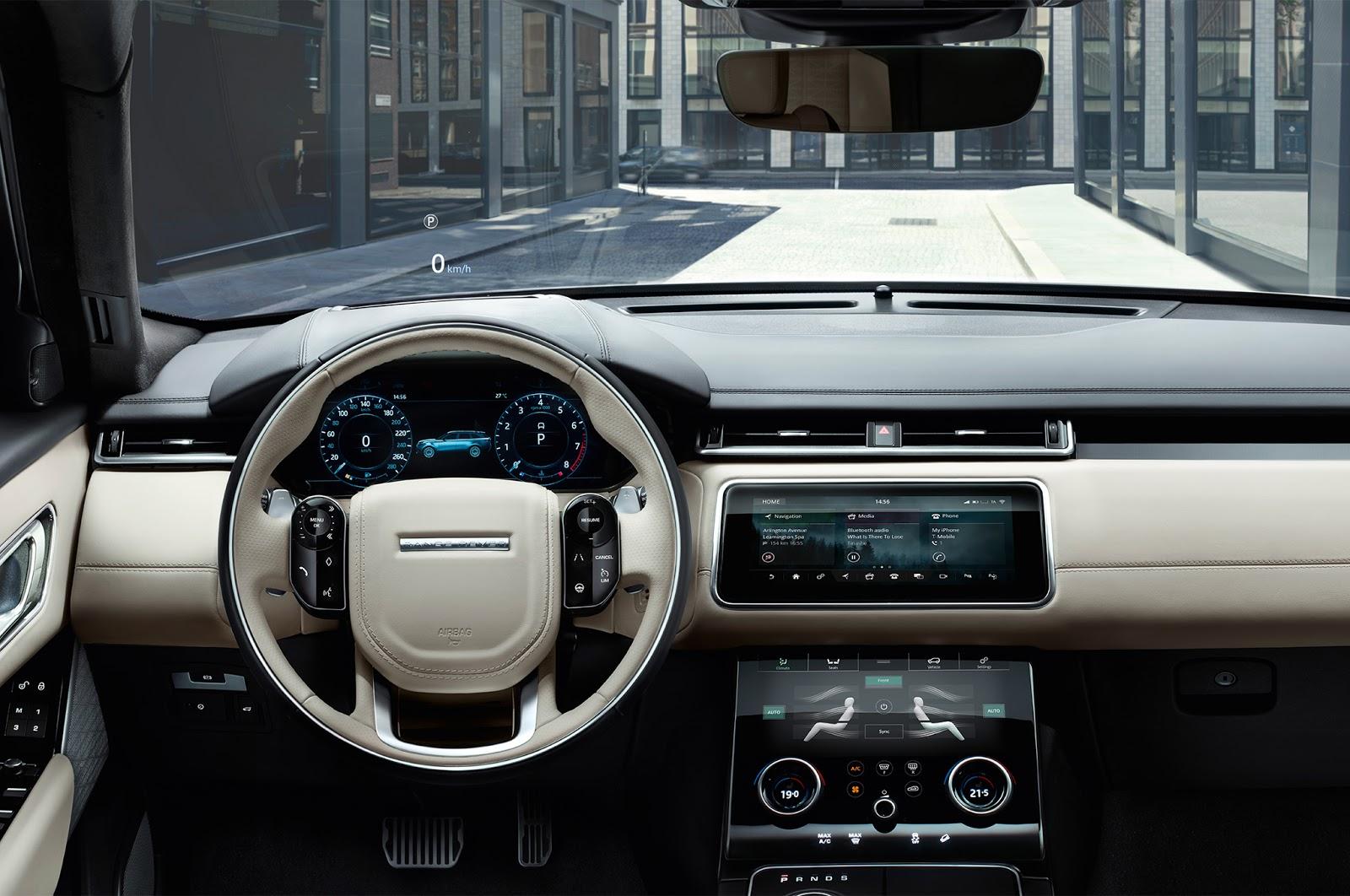nội thất xe range rover velar nhiều màu tuỳ chọn