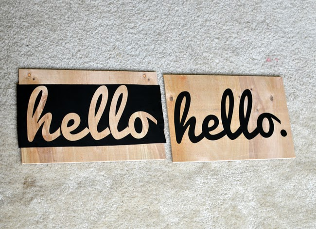 how to make a hello sign