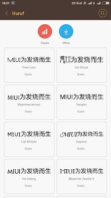 Cara Mengganti Font dan Ukuran Teks Pada Xiaomi Mi 4i