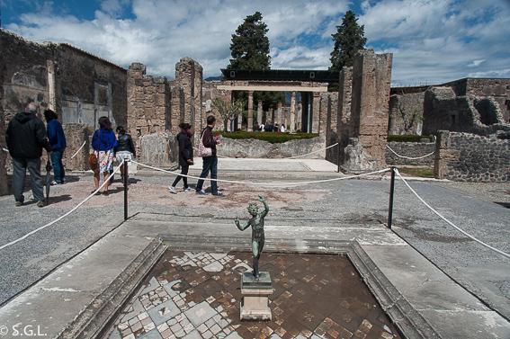 La casa del Fauno en Pompeya, las ruinas de la ciudad romana