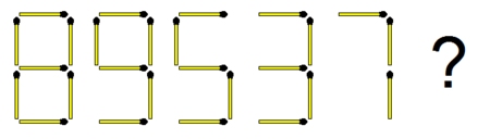 Matchsticks Number Sequence Puzzle