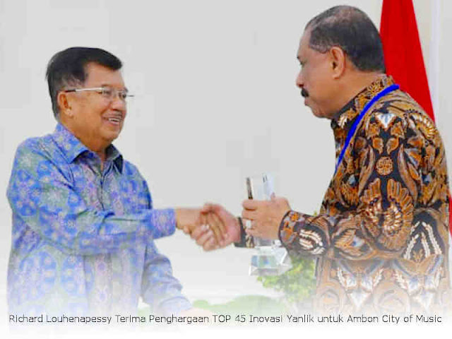Richard Louhenapessy Terima Penghargaan TOP 45 Inovasi Yanlik untuk Ambon City of Music
