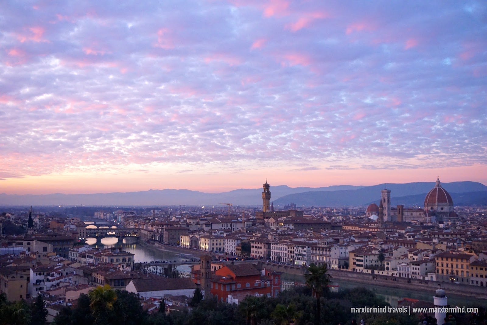 View of Florence Italy from Piazzale Michelangelo