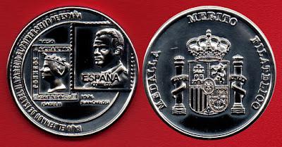 Medalla de Plata al Mérito FilatélicoMedalla de Plata al Mérito Filatélico