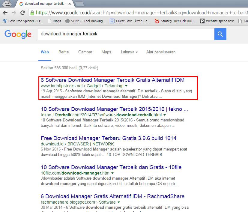 Bukti bahwa peringkat Google #1 dengan social share