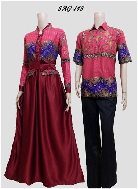 Model Gamis Batik Pasangan Untuk Pesta Pernikahan