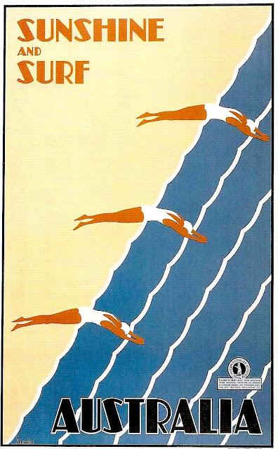 Australia travel poster 1930s