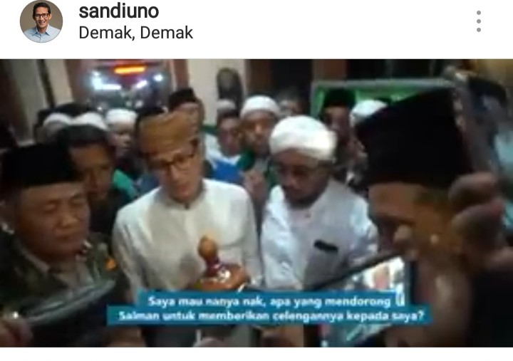 Terjadi di Masjid Agung Demak Malam Hari, Inikah Kuasa Allah untuk Kemenangan Prabowo-Sandi?