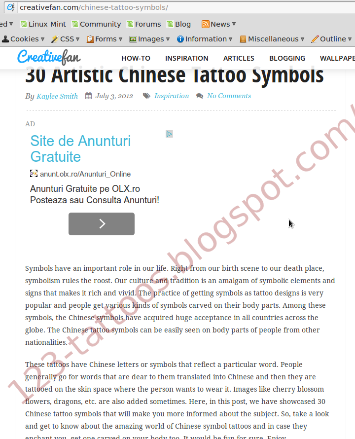 2378684be Now, after we've seen the introduction, let's see what is wrong with this  article: meaningless Hanzi tattoo