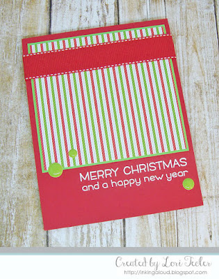 Merry Christmas card-designed by Lori Tecler/Inking Aloud-stamps from Lawn Faw