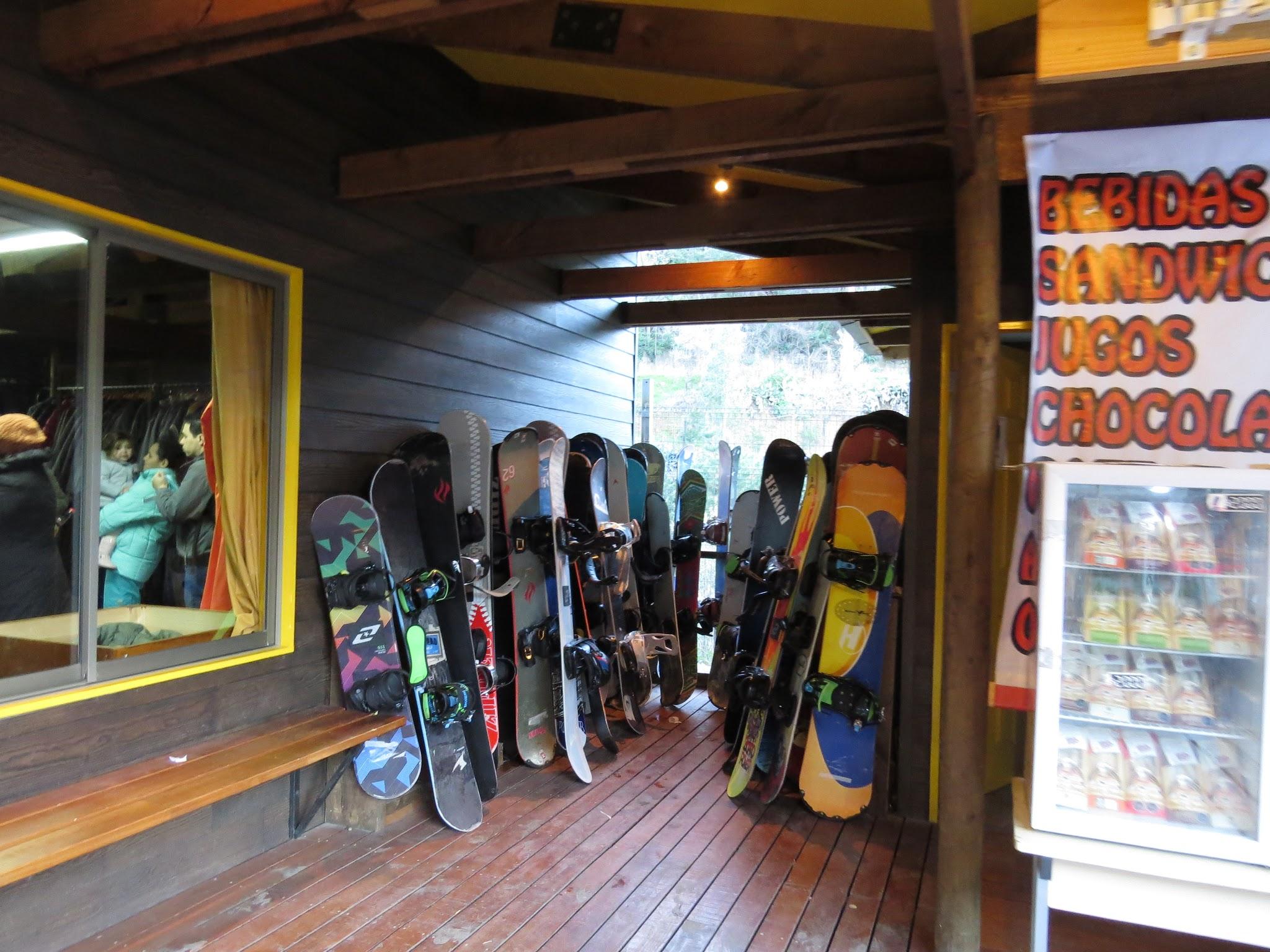 equipamentos de esqui